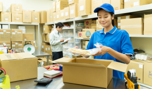 倉庫内作業(パンフレットの仕分・セット作業と梱包作業)