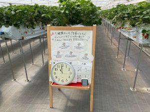 折原果樹園ハウス内看板